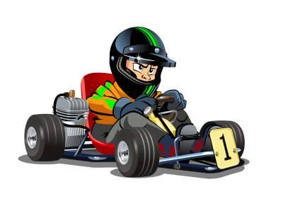 Image d'enfant pratiquant le karting