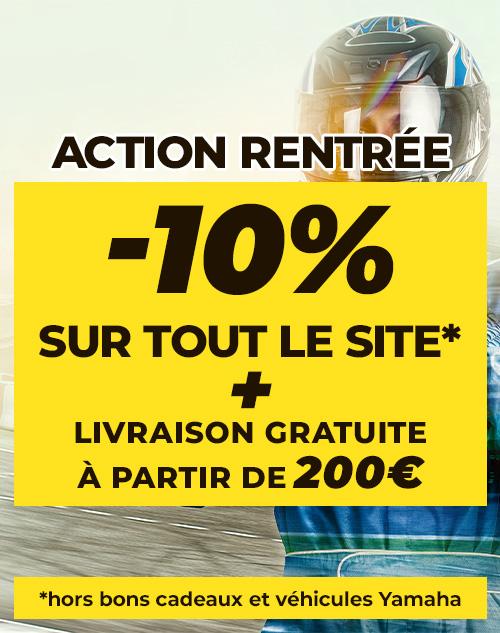 Action rentrée : -10% sur tout le site